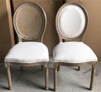 банкет Луис низкой цены деревянный используемый год сбора винограда обедая стул с ротангом назад для случаев