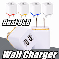 US EU Dual USB Wall Charger Travel Adapter 5 V 2. 1 A For iPh...