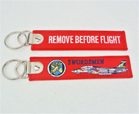 VF- 32 Swordsmen Remove Before Flight Keychains Aviation Tags...