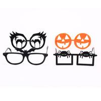 Abóbora aranha óculos novidade presente decoração festa de Halloween óculos de festa vestido de Festa Suprimentos Halloween Crianças Criativas óculos