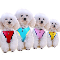 Mesh Dog Harness Vest Leash Set for Small Dogs Foam Soft Han...