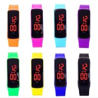 New Fashion Sport LED Watches Candy Jelly men women Silicone...