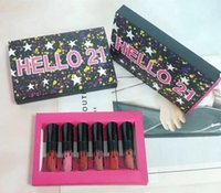 In stock HELLO 21 lip gloss 6colors Birthday Makeup Matte Li...
