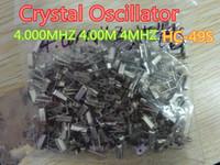 30pcs / lote Crystal Oscilator HC-49S 4.000MHz 4.00m 4MHz