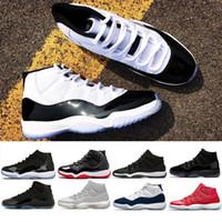 جديد 11 كونكورد 45 حفلة موسيقية ليلة كرة السلة أحذية الرجال النساء البلاتين تينت كاب و ثوب ولدت غاما الأزرق حذاء رياضة حذاء