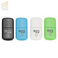 Facile da trasportare Mini USB Card Reader economico più economico USB 2.0 T-flash memory TFcard / lettore di schede micro SD, adattatore per schede TF 100pcs