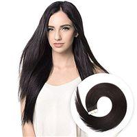 Cinta en extensiones de cabello Color Negro Natural 1B Sedoso Recto Remy Hair Piel Sin Fisuras Trama En Extensiones De Pelo 20pcs 50g