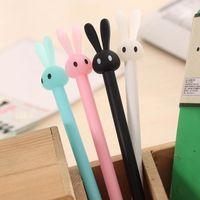 Forniture per ufficio carine Forniture per ufficio di cancelleria Kawaii Pen Long Ears Coniglio di plastica del fumetto Penna del gel Penna creativa per il regalo dello studente della ragazza