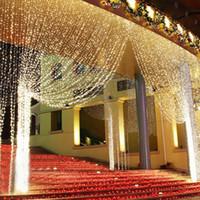 4.5 M x 3 M 300 LED Ev Açık Tatil Noel Dekoratif Düğün noel Dize Peri işıklar Perde Garlands Şerit Parti Işıkları