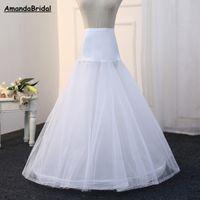 Amandabridal lange A-Linie Hochzeit Brautkleid Kleid Petticoat Unterrock Krinoline Hochzeit Zubehör Jupon Anagua Enaguas Novia