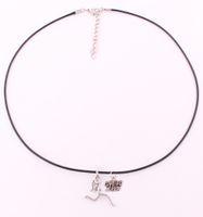 جديد وصول تشغيل المرأة معلقة الشظية مطلي الحب لركض سحر حبل سلسلة قلادة المجوهرات هدية