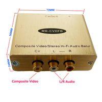 Stereo Ses Video Balun RCA AV Balun Analog RCA Genişletici üzerinde cat5e / 6 (bir çift)