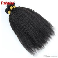 3pcs 4pcs lot Coase Yaki Kinky Straight Raw Indian Human Hai...