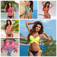 Women Cross Bandage Swimming Suit Bikini Two Piece Bikinis S...