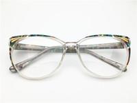 e64364f61 Mais recente projeto transparente de acetato sobre o tamanho mulheres de  alta qualidade óculos de espetáculo