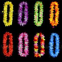 Свадебные украшения лепесток Леи гирлянда гавайский танец Луау декор аксессуары пляжная вечеринка тропический искусственный цветок ожерелье горячие Продажа 2 45zc YY