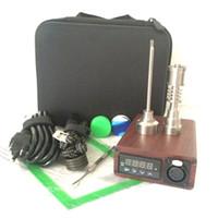 Chaude Portable E-nail Enail Kit Électrique Dab Nail Pen Rig cire boîte avec 16MM 20mm 10mm Quartz titane Domeless Bobine Chauffe-ENail