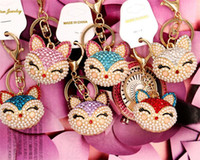 Artificial fox Keychain for Handbag Car Key Ring Cute Fox In...