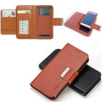 Universal Hybrid Side Pocket TPU Cover Wallet PU Flip Leathe...