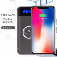 Powerbank 10000mAh Batterie externe Charge rapide Chargeur sans fil Powerbank Chargeur de téléphone portable pour iPhone X 8 8plus avec emballage