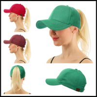 7 Colors Denim CC Icon Ponytail Visor Beanie Hats Casquette ...