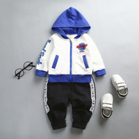 spring autumn children boys clothes set 2018 new fashion hoo...