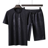 Plus Size 6XL 7XL 8XL Men Running Sets Summer Tops+ shorts 2P...