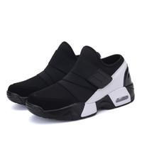 separation shoes 62492 68af9 2018 Nuevos Hombres de Cuero Negro blanco color rojo a prueba de agua  zapatillas de deporte