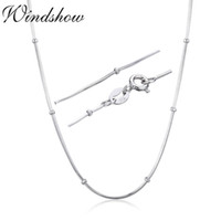 "14"" - 32"" Slim 925 Sterling Silver Snake Beads Chain..."
