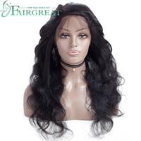 브라질 360Lace 전면 인간의 머리 가발 여성을위한 브라질 스트레이트 가발 베이비 헤어와 함께 자연 헤어 라인 360 레이스 정면 가발