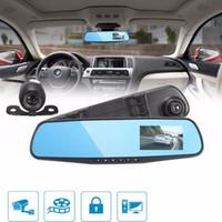 Sıcak M068 3.8 inç 1080 P HD 140 Açı Gece Görüş Araba Dikiz Aynası Kamera Dash Cam Video Kaydedici Ters Yedekleme Araba DVR Ücretsiz DHL