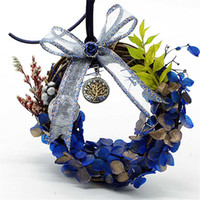 Couronne de fleurs à la main, fleurs sans fin, décoration de voiture, meilleur cadeau pour les amis et la famille-3 choix de couleurs
