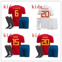 2018 world cup Spain soccer Jersey kids kit with socks Spain...