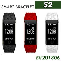 50X Bluetooth Smart Band S2 Pulsera Monitor de ritmo cardíaco IP67 Impermeable Smartband Activity Tracker Pulsera para Android IOS VS FitBit DHL