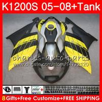 Corpo para OEM K-1200S K 1200 S 05 10 K1200 S Gloss Amarelo 05 06 07 08 09 10 103HM.33 K 1200S K1200S 2005 2006 2007 2008 2009 2010 2010 Kit de justo