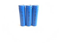 High quality 14500 lithium battery actual capacity 600mah 3.7v flat head blue manufacturer direct sale