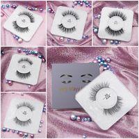 3d Mink Cílios Super Macio Natural 100% Mink Cabelo Cílios Postiços Cruz Eye Lashes Maquiagem Extensão Natureza Cílios Falsos 19 Estilos