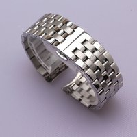 High Quality Stainless Steel Watchband Curved End Silver Bra...