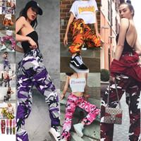612e24b5696 2018 nueva primavera otoño damas moda casual camuflaje Camo pantalones  largos para mujer pantalones venta directa