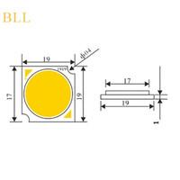 Fuente viruta del LED de luz de lámpara de 30W DC27-33V 900MA fría / caliente LED blanco COB Viruta para Downlight siguiendo la lámpara Ceilinglight