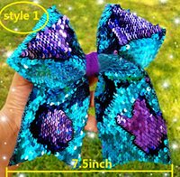 NEW 4 colors Reversible Mermaid sequin cheer bows For Girls ...