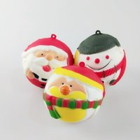 Squeeze Toy Cute Snowman Santa Claus Slow Rising Decompressi...