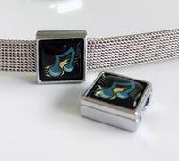 10 stücke 8 MM Kunststoff Musik Hinweis Druck Platz Diacharme Perlen DIY Zubehör Fit 8mm Kragen Gürtel Armbänder