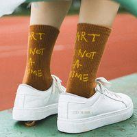 Street Style Harajuku calzini moda europea cotone casual donne lettere calze scuola ragazze calde calze personalizzate calze