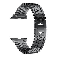 For Apple Watch Straps Fish Scale Metal Stainless steel Band...