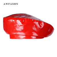 2018 New Fashion Patent Leather Beret High Quality Ladies Ha...
