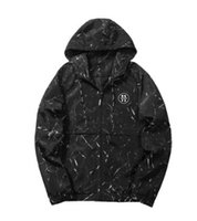 Printed Men Casual Jackets Camo Hooded Windbreaker Male Zipp...