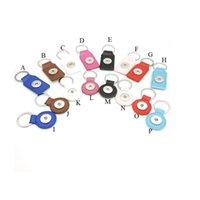 16 Opciones Llaveros de Noosa Llavero a presión de cuero de la PU Llavero Llavero a presión Anillos fit DIY 18MM Ginger Snap Jewelry