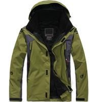 2008 top vente chaude nouvelle hiver en plein air imperméable coupe-vent veste pour hommes, en plein air 2in1 chaud ont capuche ski veste camping trekking manteaux de ski