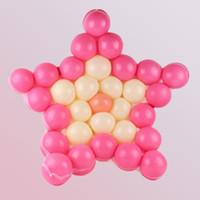 Cinco en forma de estrella en forma de malla fiesta globos rejillas boda fiesta de cumpleaños de fondo decoración de la pared envío gratis ZA6970